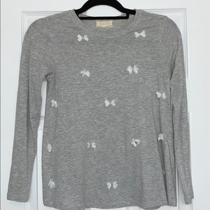 Girls Long Sleeve Shirt With Bows